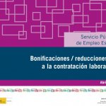 Actualización de la guía de bonificaciones/reducciones a la contratación laboral